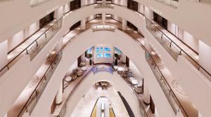 Uluslararası Otel – İçbükey Akrilik Deniz Akvaryumu